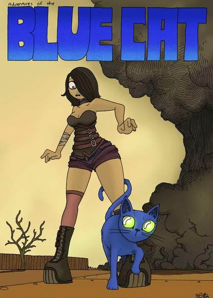 Blue cat обложка
